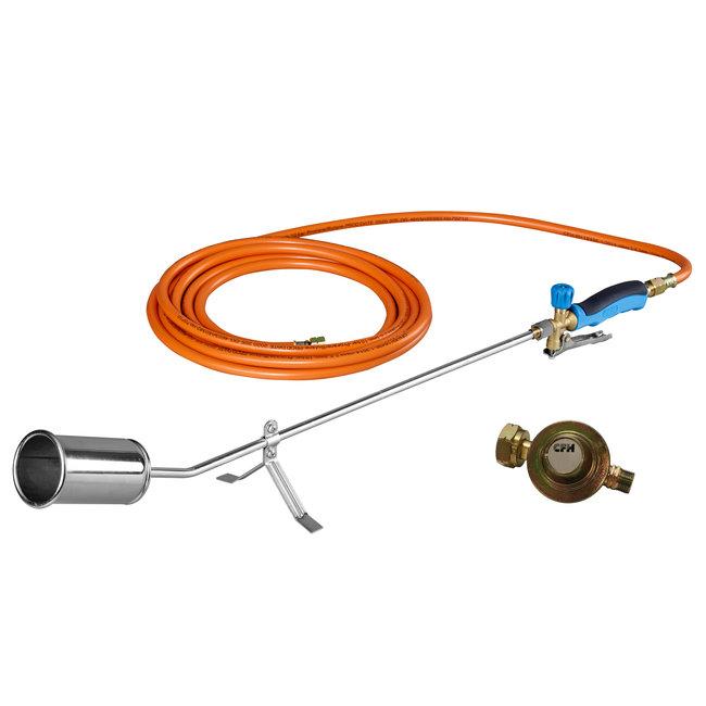 CFH GV 900 Gasbrander onkruidbrander met 5m gasslang en drukregelaar