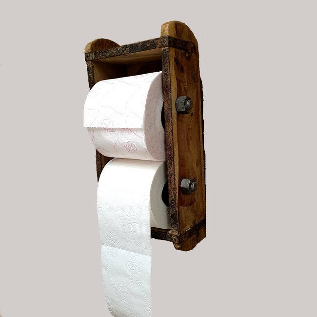 Home & Deco Houten steenmall wc-rolhouder