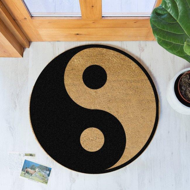 Home & Deco Deurmat Yin Yang cirkel 70 cm