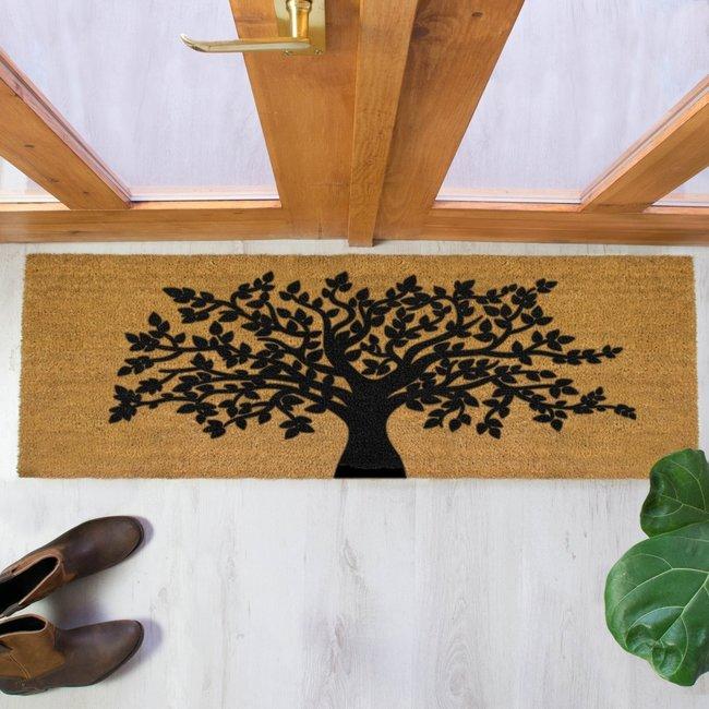 Home & Deco Dubbele deur / terrasdeurmat levensboom 120x40cm