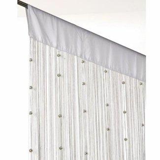 Home & Deco Vliegengordijn met witte parels 90 x 220 cm