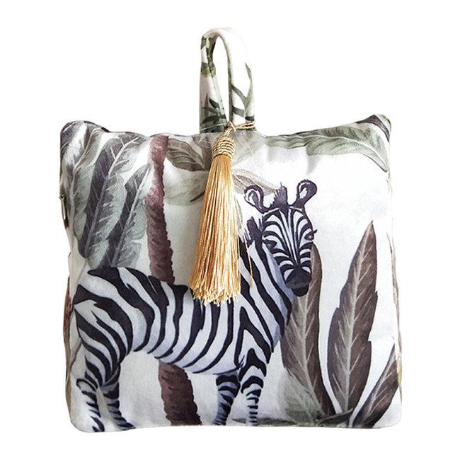 Fluwelen deurstopper jungle toekan zebra