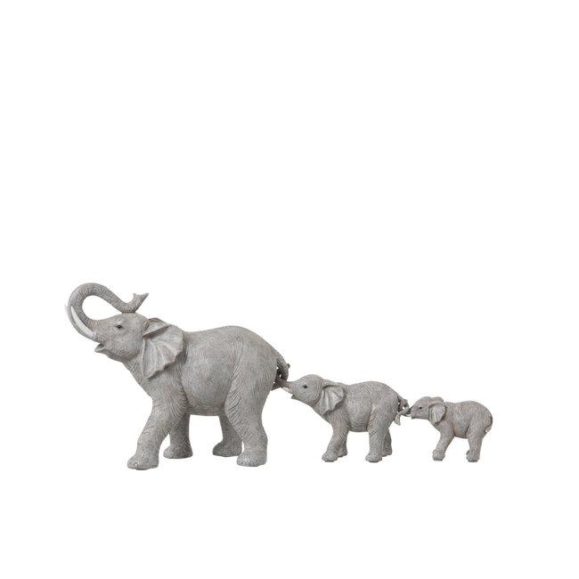Jolipa Decoratiebeelden olifanten familie op een rij