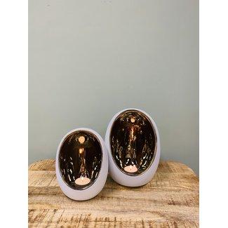 Home & Deco Theelicht set pim L/XL Wit/goud