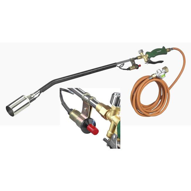 Eurom Gasbrander onkruidbrander compleet piezo ontsteking, slang en drukregelaar.