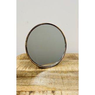 Home&Deco Spiegel Vince 17 X 9 Cm Staal Goud
