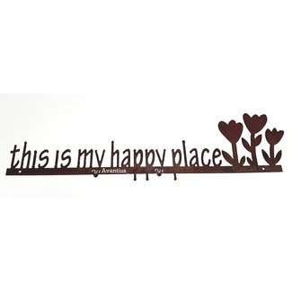 Ecoroest Metalen wandtekstbord  'this is my happy place'