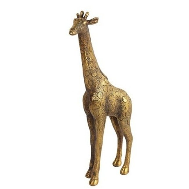 Countryfield Beeld Giraffe goud 31x15x5cm