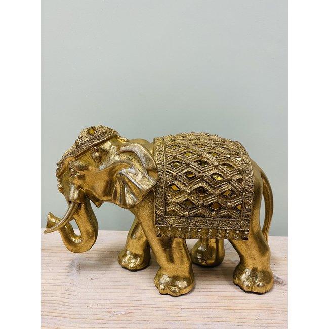 Home & Deco Decoratieve gouden olifant medium