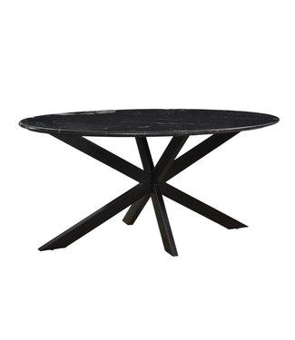 Livingfurn | Eettafel | Marble Oval | 180x90 cm | marmer | ovaal