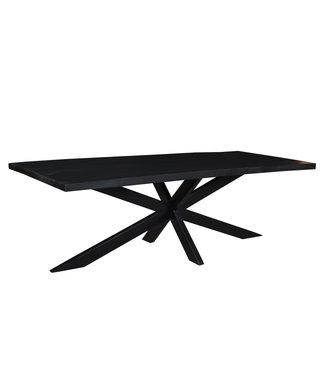 Eetkamertafel - Kala Spider -  240 x 100 cm - mangohout met staal