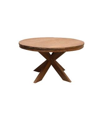 Eettafel | Beek | Rond | 140 cm | teak