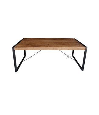 Eettafel | 100x200 cm | Strong | mangohout met staal