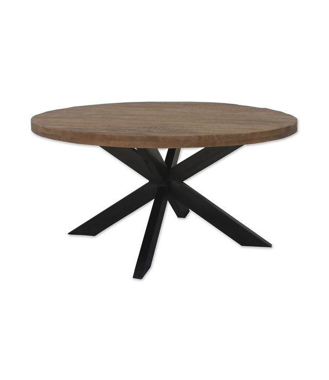 Eettafel Sturdy | rond | 150 cm | mangohout met staal