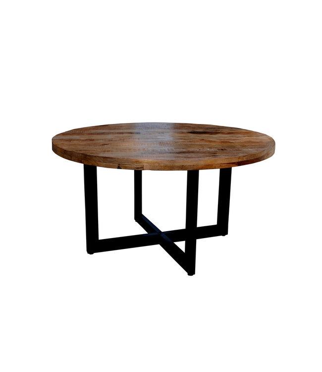 Eettafel | Strong | 150 cm | rond | hout met staal