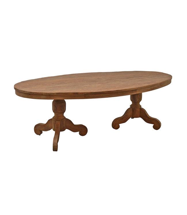 Eettafel | DK Oval | 240x120 cm | ovaal | teak