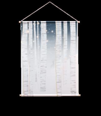 Urban Cotton Winter wonderland- Textielposter 90 x 120 cm