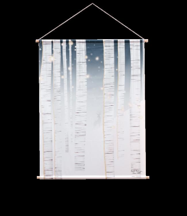 Urban Cotton Winter wonderland - Textielposter 60 x 80 cm