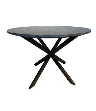 Livingfurn | Eettafel Jacky | 110 cm | marmer | rond | spinpoot
