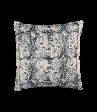 HSM Collection HSM Collection Sierkussen met print  katoen  45x45 cm  groen/naturel/blauw