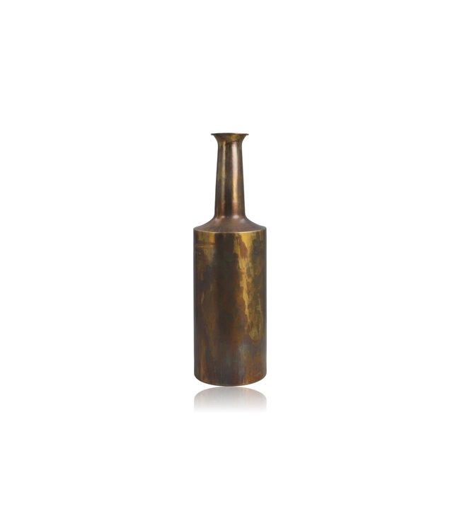 HSM Collection Vaas Bergamo small - ø17x55 - Messing antiek goud - Metaal