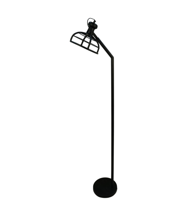 HSM Collection Vloerlamp Crown - 25x25x152 - Powder coated black - Metaal