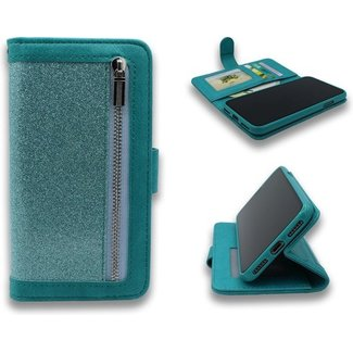 Samsung Galaxy S20 bookcase   turquoise   met rits