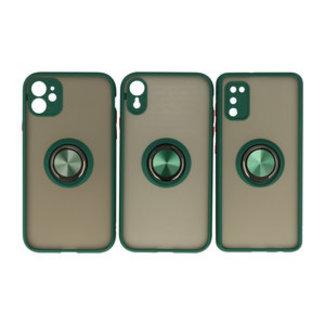 Samsung Galaxy S20 hoesje - groen - met ring