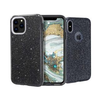 Samsung Galaxy S10 Plus hoesje | zwart glitter