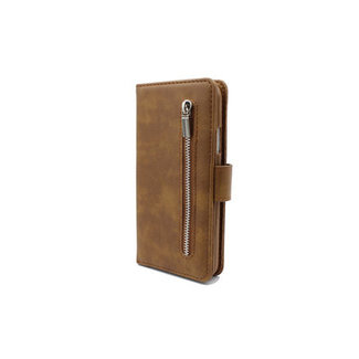 Samsung Galaxy A71 bookcase | bruin | met rits