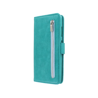 Samsung Galaxy A71 bookcase | turquoise | met rits