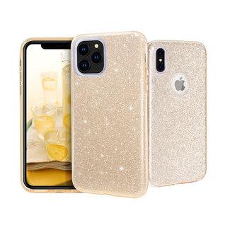 Samsung Galaxy A70 hoesje   goud silicone glitter