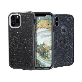 Samsung Galaxy A50 hoesje | zwart glitter