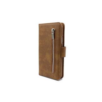 Samsung Galaxy A21s bookcase   bruin met rits