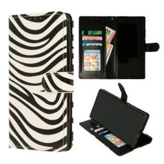 Samsung Galaxy A12 bookcase | zebra print