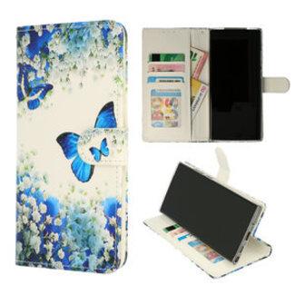 Samsung Galaxy A12 bookcase | blauwe vlinder print