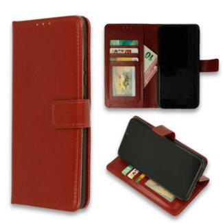 Samsung Galaxy A10 bookcase   kastanje rood