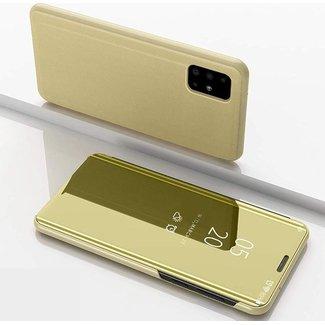 Samsung Galaxy A40 bookcase   goud clear view