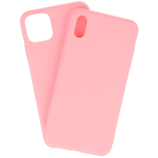 Apple iPhone Xs Max Silicone backcover Roze