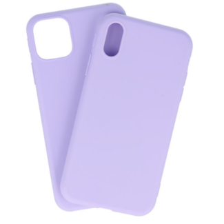 Apple iPhone Xs Max Silicone backcover Paars