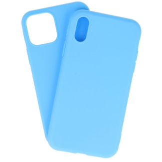 Apple iPhone Xs Max Silicone backcover Licht Blauw