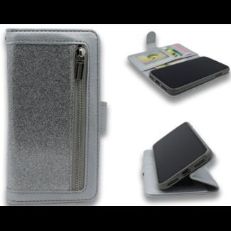 Apple iPhone 11 Pro bookcase met rits en glitter