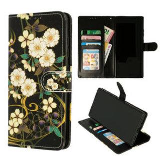 Samsung Galaxy A32 4G bookcase   Bloemen Geel