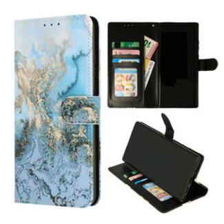 Samsung Galaxy A32 4G bookcase   Marmer Blauw