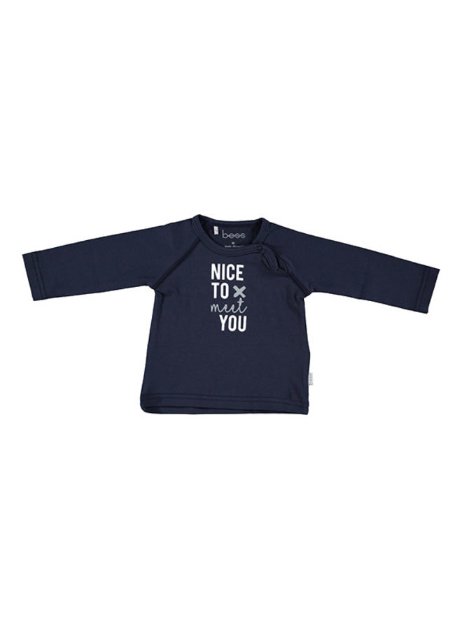 BESS-Shirt Nice To Meet You - Blauw