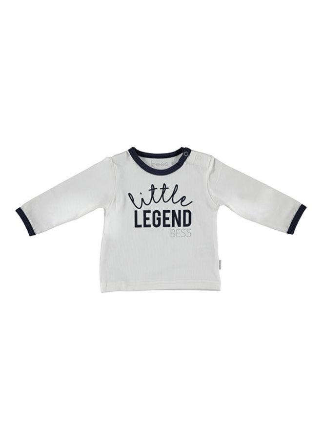 BESS-Shirt Little Legend - Wit/Blauw