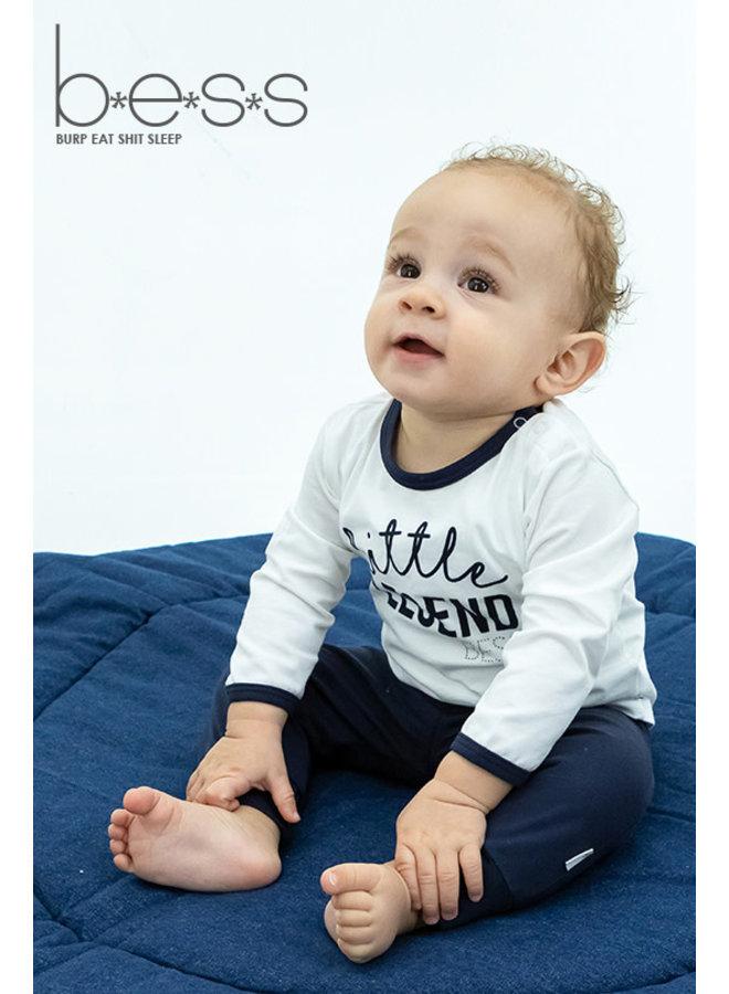 Shirt Little Legend - Wit/Blauw
