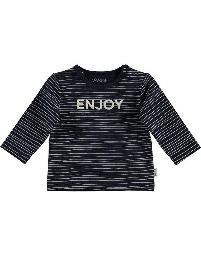 BESS-Shirt Enjoy - Blauw