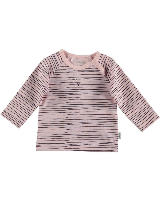 BESS-Shirt Pinstripe - Roze
