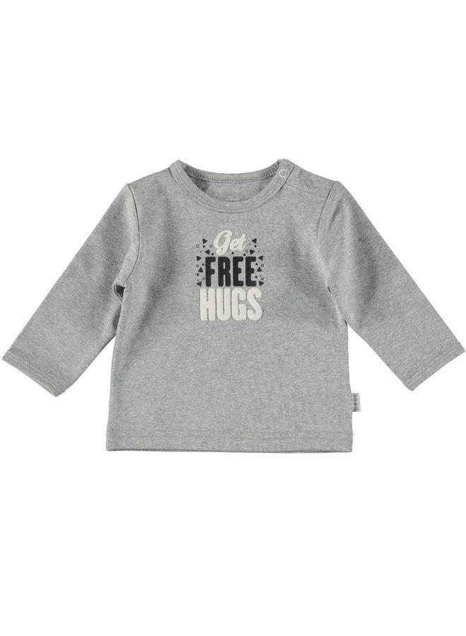 BESS-Shirt Get Free Hugs - Grijs